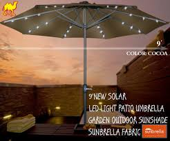 amazon com strong camel 9 new solar led light patio umbrella