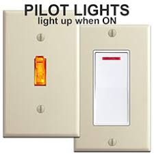 pilot light switches for wall plates pilot lighted rocker switch