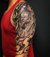 Spectacular Egyptian Sphinx Half Sleeve Tattoo