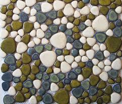 glazed porcelain tiles pebble mosaic tile ppmt010 bathroom