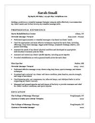 Remedial Massage Therapist Resume Therapy Cover Letter Examples