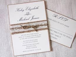 Burlap Country Wedding Invitations