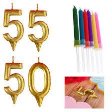 geburtstag zahl kerzen kuchen nummer 50 55 gold oder mit set mit bunter flamme ebay