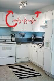 Kitchen Soffit Design Ideas by Big Plans Little Budget Soffit B Gone