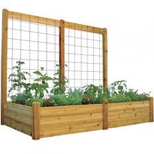 gronomics raised garden bed with trellis 48 x 95 x 80