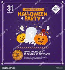 Free Printable Scary Halloween Invitation Templates by Halloween Invitation Template Pumpkin Candy Ghost Stock Vector