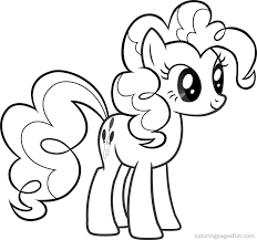 My Little Pony Friendship Is Magic Coloring Pages Pinkie Pie