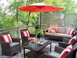 Patio Furniture Cushions Sunbrella by Patio 34 Rattan Outdoor Patio Furniture Cushions With Red