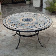 trestle mosaic dining table dining table design ideas