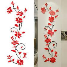 blüte blumen spiegel wandtattoo aufkleber sticker wohnzimmer