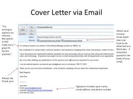 Sample Email Cover Letter With Attached Resume Signature Luxury Free And