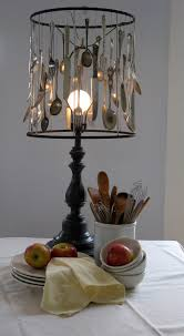 Create A Rustic Look With Silverware Lampshade Would This Work For All My Collector