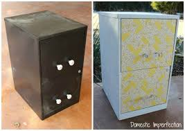 $5 File Cabinet Makeover Domestic Imperfection