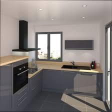 cuisine grise plan de travail bois cuisine grise anthracite finest modele cuisine en l cuisine gris