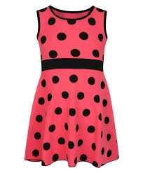 girls casual sleeveless dress kids polka dot design summer top