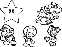 Mario Characters Coloring Pages