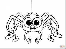 Beautiful Incy Wincy Spider Coloring Pages With Page And Online