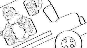 Image For The Wheels On Bus Coloring Page