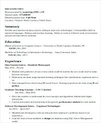 How To Make A Perfect Resume Example Data Scientist Cover Letter Examples 2018