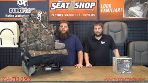 Neoprene Camo Seat Covers - The Seat Shop - YouTube