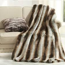 américain style fourrure de chevet couverture 150 200 cm café