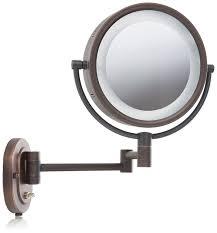jerdon hl65bz 8 inch lighted wall mount makeup mirror