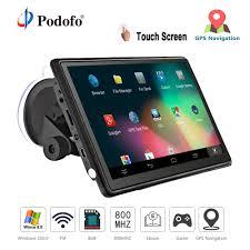 100 Google Truck Maps Podofo Car GPS Navigation FM Bluetooth AVIN 7 HD Touch Screen Sat