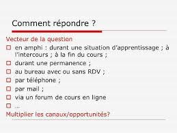 comment repondre au telephone au bureau facteurs doptimisation de la qualité des réponses aux questions