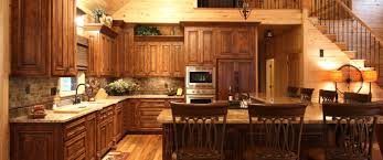 Rustic Home Alder Woodbar Stoolcabinet Covered Appliancesrustic Style Kitchen