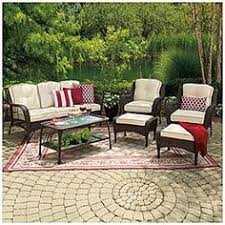 Wilson And Fisher Patio Furniture Cover by Wilson U0026 Fisher Tuscany Resin Wicker 6 Piece Seating Set At Big