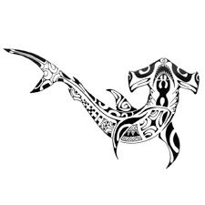 Hammerhead Shark Pumpkin Stencil by Shark Tribal Tattoo Model Photo 1 Tattoo Pinterest Maori