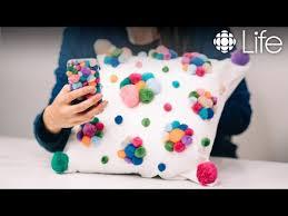 DIY Pom Pom Pillow and Phone Case