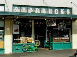 The Original Seattle Starbucks Coffee Store Shop Cafe
