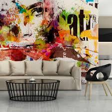 details zu vlies fototapete graffiti urbanart bunt tapete wohnzimmer wandbilder 228