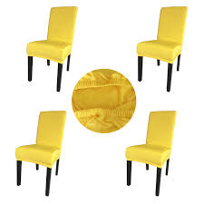 Gold Fortune Spandex Fabric Stretch Removable Washable Dining Room Chair  Cover Protector Seat Slipcovers Set Of 4 (Bright Yellow) Sure Fit Ballad Bouquet Wing Chair Slipcover Ding Room Armchair Slipcovers Kitchen Interiors Subrtex Printed Leaf Stretchable Ding Room Yellow 2pcs Ektorp Tullsta Chair Cover Removable Seat Graffiti Pattern Stretch Cover 6pcs Spandex High Back Home Elastic Protector Red Black Gray Blue Gold Coffee Fortune Fabric Washable Slipcovers Set Of 4 Bright Eaging Accent And Ottoman Recling Queen Anne Wingback History Covers Best Stretchy Living Club For Shaped Fniture