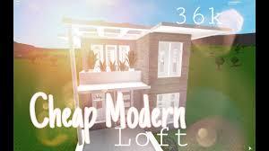 100 Cheap Modern House Roblox Bloxburg Loft 36k Bloxburg YouTube