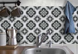 fliesenaufkleber für bad deko u küche azulejo grau