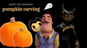 Spongebob Pumpkin Carving Kit by Pumpkin Carving Bendy And The Neighbor Youtube