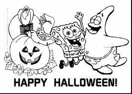 Magnificent Spongebob Halloween Coloring Pages With Printable And Christmas