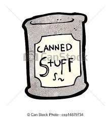 Cartoon Canned Food Vector