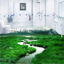 beibehang kunden wohnzimmer schlafzimmer boden tapete folie 3d selbst adhesive bad gras verschneiten berg tapete 3d boden