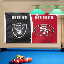 Oakland Raiders Vs San Francisco 49ers WinCraft Deluxe 3 X 5 House Divided Flag