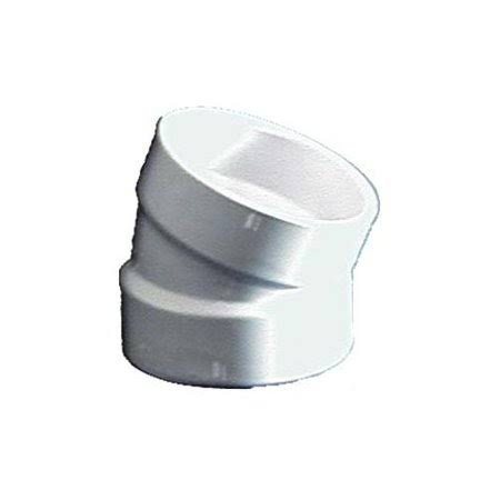 "Genova Products PVC Pipe Elbows - 2"", 22.50 Degrees"