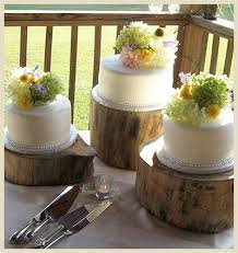 For A Rustic Wedding Look Wood Rounds Can Be Used To Showcase Deconstructed Cake