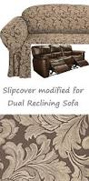 Dual Reclining Sofa Slipcovers by Reclining Sofa Slipcover Damask Chocolate Brown Sure Fit Couch