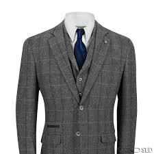 New Cavani Mens 3 Piece Tweed Suit Vintage