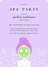 Pamper Party Invite Template Image Gallery Invitation Templates Spa Day Marvelous