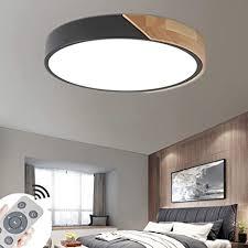 coosnug 60w led deckenleuchte holz dimmbar deckenle wohnzimmer schlafzimmer küche panel leuchte 3000 6500k energieklasse a