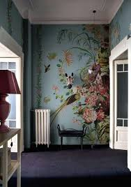 flur blumentapete contemporary wallpaper wall deco mural