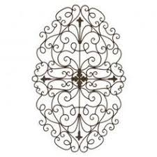 Stefano 32 Inch Oval Iron Wall Grille Tuscany DecorTuscan
